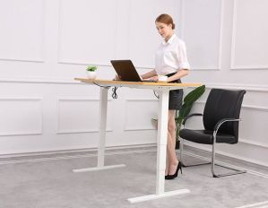 China Low Noise Electric Sit And Stand Height Adjustable Desk Steel