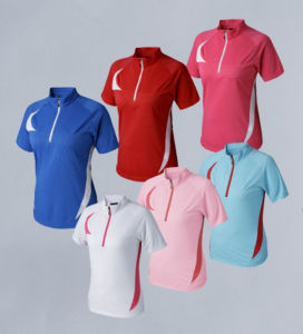 China Custom Logo Polo T Shirt Ladies Golf T Shirts Sports Ball