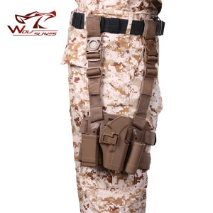 Airsoft Four in One Tactical Drop Leg Holster for Glock 17 Holster Gun Holster pictures & photos