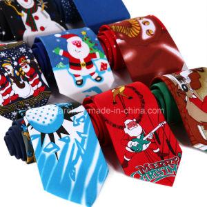 Christmas Tie.Custom Print Polyester Christmas Tie