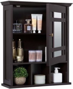 Mirrored Bathroom Wall Storage Cabinet