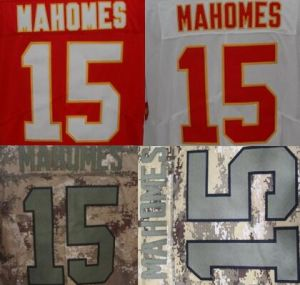 Best Custom Embroidered #15 Patrick Mahomes Stitched Limited Jersey