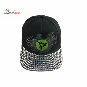 fashion Rhinestone Baseball Caps with Printing and Embroidery