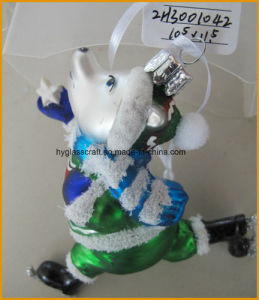 Boutique Dog Glass Craft for Christmas Decoration pictures & photos