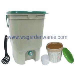 Kitchen Compost Bucket, Em Compost, Packed With Bokashi Bran