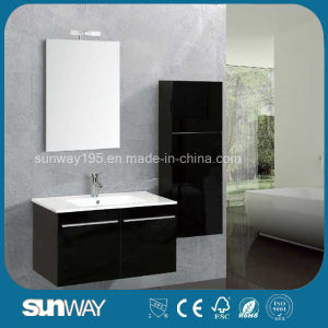 Hot Sell Modern Wall Hang MDF Double Bathroom Vanity with Sink pictures & photos