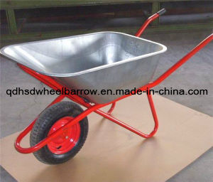 Large Capacity Deep Tray & Durable Wheelbarrow Wb6418 for Russia Market