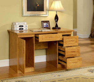 Oak Solid Wood Office Desk Study Desk Study Room Furniture Modern Style (M-X2016) pictures & photos