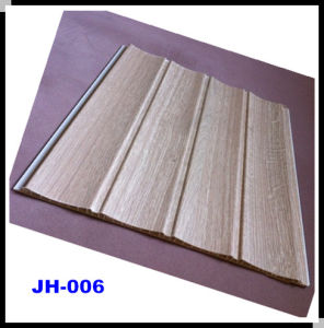 Good Quality Wood Design PVC Wave Panel with Laminated Treatment for Pakistan (JH-006)