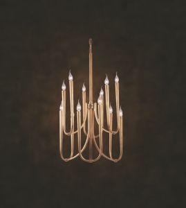 Simple Candle Copper Chandelier (N10029-6-6)