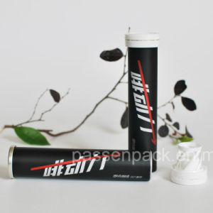 Matte Black Aluminum Effervescent Tube for Instant Coffee Packing pictures & photos