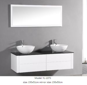 Sanitary Ware White Bathroom Cabinet with Mirror