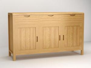 Door 3 Drawer Solid Oak Wooden Cabinets