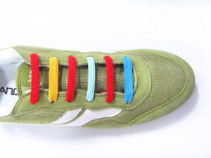 Flat Elastic U Shoelace / Elastic U Laces / Flat Shoelace pictures & photos