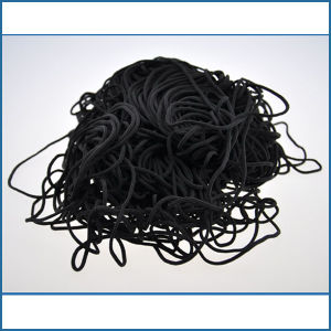 China Black Polyester Spandex Elastic Cord For Disposable Face