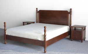 American Solid Wood Vintage Double Bed (M-X3025) pictures & photos