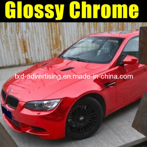 Chrome Red Car Wrapping Vinyl Sticker