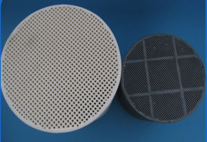 Sic/Cordierite DPF Diesel Particulate Filter Honeycomb Ceramic Catalytic Converter pictures & photos