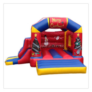 Merry Christmas Inflatable Castle Factory Directly Supply