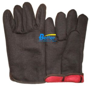 Coffee Cotton Jersey Graden Work Gloves (BGGW008)