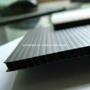 Black Coroplast Corrugated Plastic Sheet pictures & photos