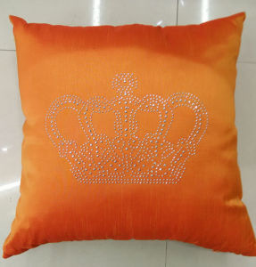 Hand-Made Decorative Pillow Diamond Ironing Decorative Cushion (XPL-49) pictures & photos
