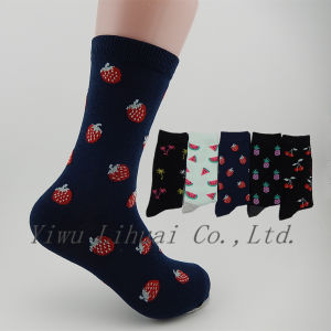 e90f993f7 China Colorful Cute Fruit Pattern Socks Women Men Personality Middle ...