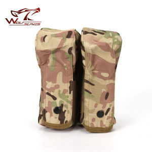 Military Airsoft Tactical Molle Double Ak Magazine Pouch pictures & photos