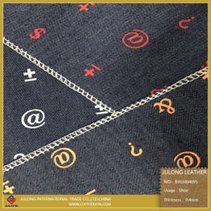 Printed Symbols Pure Cloth Fabric for Shoes pictures & photos