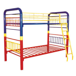 China Modern Workshop Factory School Cheap Metal Double Bunk Bed