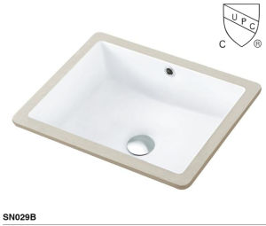 Cupc Ceramic Washing Basin Bathroom Undermount Sink