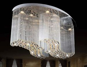 Modern Crystal Pendant Light Led Ceiling Lighting For Living Room And Hall