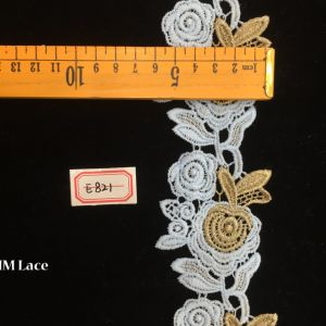 6cm Curved Yellow Apple Flower Lace Headband, Trimming Ribbon for Garment Accessories Hme821 pictures & photos