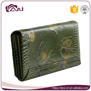 Fani Genuine Cowwhide Leather Woman Wallet Coin Purse pictures & photos