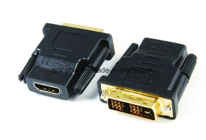 DVI (18+1) Male to HDMI Female Adapter pictures & photos