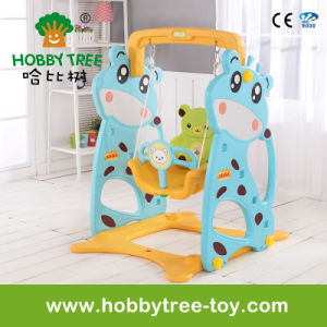 2017 Deer Cheap Style Indoor Plastic Baby Swing Set (HBS17007A)