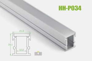 Hh-P034 LED Aluminum Extrusion for Ground Floor pictures & photos