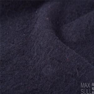 100% Wool Fabric for Autumn with Special Hand in Black