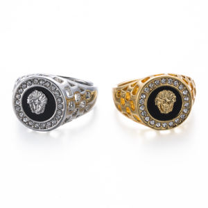 VAGULA Silver and Gold CZ Rhinestone Fashion Women′s Ring pictures & photos