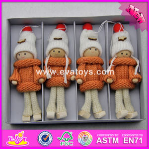 2017 New Products Christmas Kids Lovely Toys Wooden Craft Dolls W02A246 pictures & photos