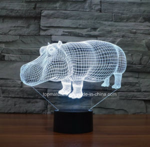 New Colorful Table Lamp, Rhino Visual LED 3D Night Lights for Birthday Gift pictures & photos