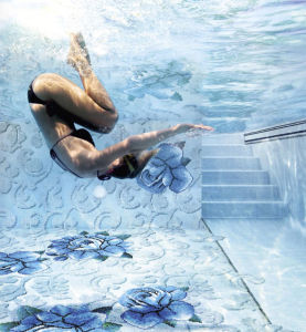 Swimming Pool Mosaic Tile, Crystal Glass Mosaic (HSP332) pictures & photos