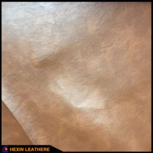 Embossed Grain Synthetic PU Leather for Shoes Hx-1701A pictures & photos