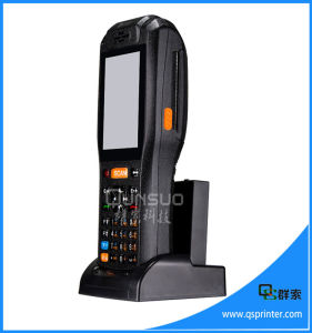 Rugged Handheld Android 1d Barcode Scanner PDA with Printer