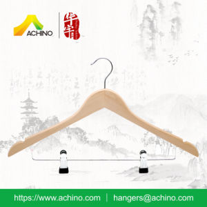 Wooden Combination Hangers with Metal Hook (WCH102-Natural) pictures & photos