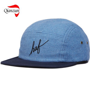76f40c95eee81 China Huf Script Flannel 5 Panel Volley Cap Blue - China 5 Panel ...