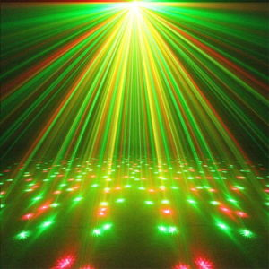 Green Christmas Decoration Musical Stage Equipments Laser Light