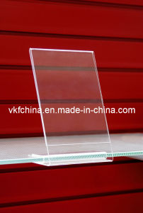 Acrylic Price Holder Product with Insert Stand