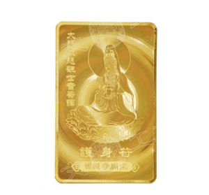 24k Pure Gold Foil Leaf Buddha Card