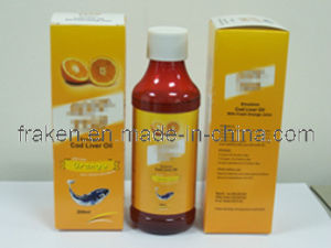 GMP Certified Cod Liver Oil Syrup with Fresh Orange Juice / Cod Liver Oil Emulsion pictures & photos